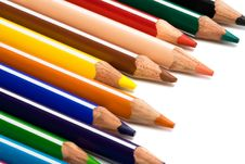 Free Beautiful Color Pencils Stock Photography - 6486962