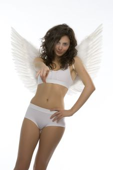 Free Young Girl With Angel S Wings Royalty Free Stock Photos - 6486968