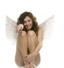 Free Young Girl With Angel S Wings Royalty Free Stock Images - 6486979