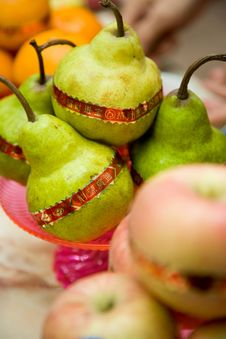 Free Fruits For Chinese Traditional Praying Stock Photo - 6487380