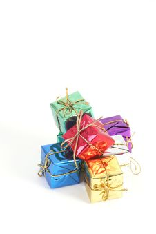 Color Gift Boxes Stock Photo