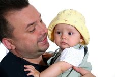Free Happy Father With Child Stock Image - 6488131