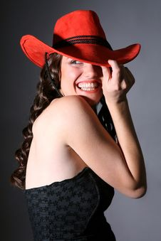 Free Girl With Red Hat Stock Photos - 6488533