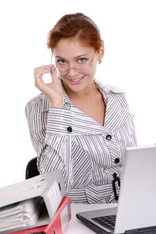 Free Young Beautiful Business Lady Royalty Free Stock Photo - 6488655
