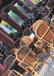 Free Empty Outdoor Restaurant Royalty Free Stock Images - 6488679