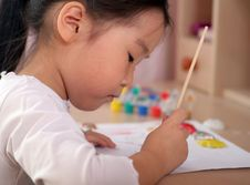 Free Child Coloring Stock Photography - 6488802