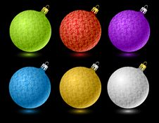 Free Set Of  Colored Christmas Balls Royalty Free Stock Images - 6489039