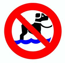 No Dog Sign Stock Images