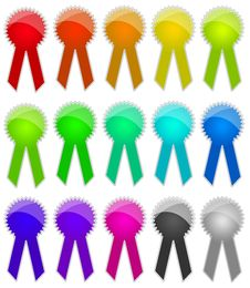 Free Colored Ribbons Royalty Free Stock Photos - 6489278