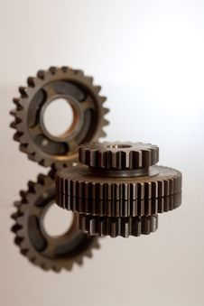 Free Two Cogwheels Royalty Free Stock Photo - 6489375