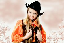Free Posing Cowgirl Portrait Stock Photos - 6489583