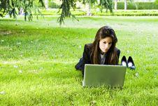 Free Businesswoman On The Grass Stock Photo - 6489930