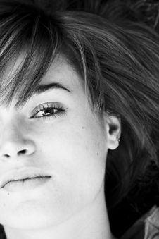 Free Half Face Portrait Stock Photos - 6489983