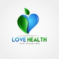 Free Vector Love Health Logo Stock Images - 64808524