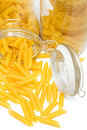 Free Pasta In Glass Can Stock Photography - 6498972