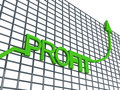 Free Profit Graph Royalty Free Stock Photography - 6499117