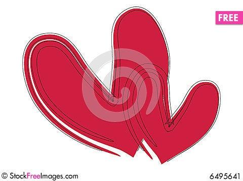 Free Brush Stroke Hearts - Vector Stock Image - 6495641