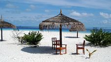 Free Chairs On The Paradise Beach Stock Photo - 6490410