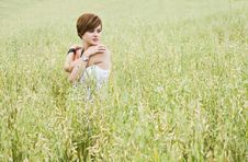 Free Loving Model On Field Stock Images - 6490414