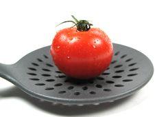 Free Ripe Tomato And Kitchen Tools Royalty Free Stock Image - 6490616