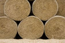 Free Straw Roll Under Pressure. Stock Photography - 6490882