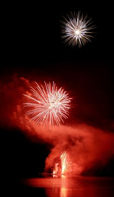 Fireworks - Red Stock Image