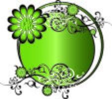 Green Round Background Vector Stock Photos