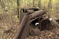 Free Old Cars In The Forest Royalty Free Stock Image - 6492276