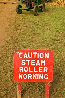 Steam Roller Working Royalty Free Stock Image