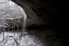 Free Snowy Waterfall Stock Photo - 6492440