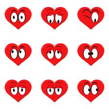 Free Hearts Emoticon Stock Images - 6492704