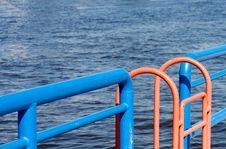 Orange Ladder Royalty Free Stock Images