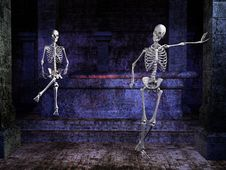 Free Skeletons In A Tomb Royalty Free Stock Images - 6494279