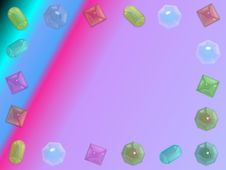 Free Gems Frame 2 Stock Photo - 6494410