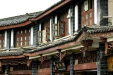 Free Lijiang - Houses In Old Town Royalty Free Stock Photos - 6494718
