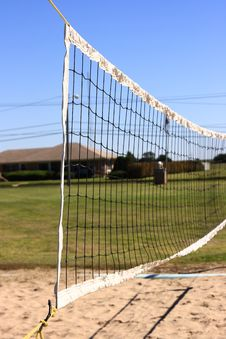 Free Volleyball Net In City Park Stock Image - 6495091