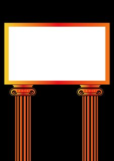 Free Greek Antique Pillar Frame Royalty Free Stock Image - 6495706