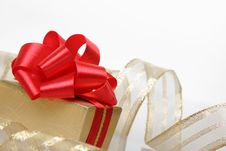 Free Box Of The Gift, Isolated On A White Stock Photography - 6495792