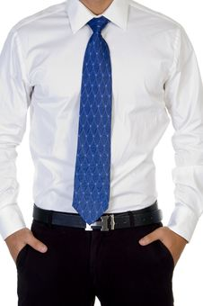 Man With His Hand In Pocket Stock Images