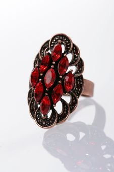 Free Ring With Red Stones Stock Images - 6496754