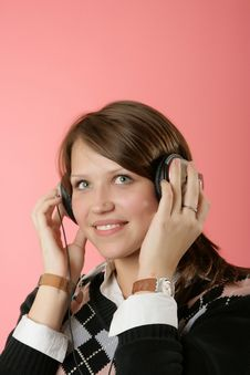 Free The Girl In Headphones Stock Photo - 6496760