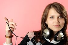 Free The Girl In Headphones Stock Photography - 6496762