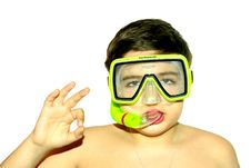 Free Child With Diving Mask Royalty Free Stock Photo - 6497025