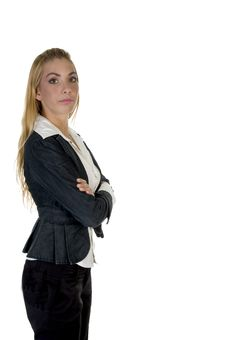 Stylish Pose Of Woman Royalty Free Stock Photography
