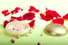 Free Rose Petals And Pouder Stock Photos - 6498053