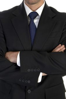 Free Businessman In Suit With Crossed Hand Royalty Free Stock Image - 6498386