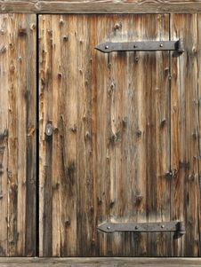 Free Old Wooden Door Royalty Free Stock Photography - 6498477