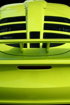 Free Yellow Sports Car Rear View Stock Photos - 6498723