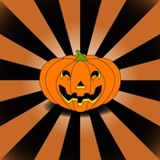 Free Halloween S Pumpkin On Manga Background Stock Image - 6498891