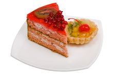 Free Sweet Cakes With Fruit Royalty Free Stock Photography - 6498987